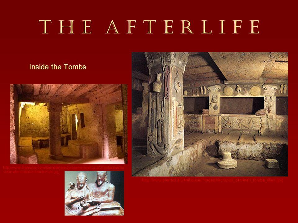 T H E A F T E R L I F E Inside the Tombs Dome shaped tombs