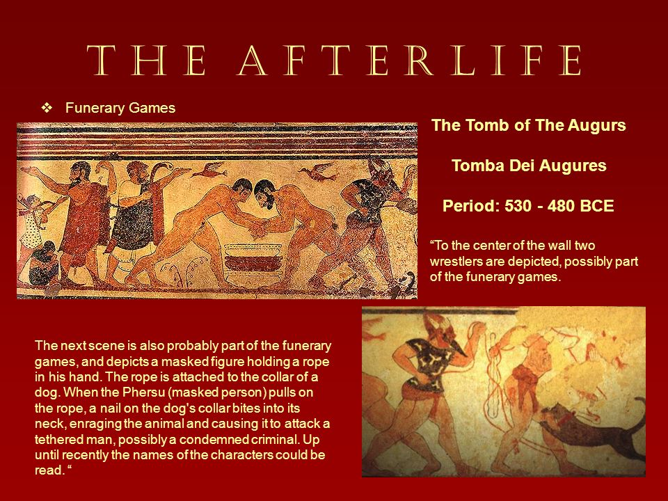 T H E A F T E R L I F E The Tomb of The Augurs Tomba Dei Augures
