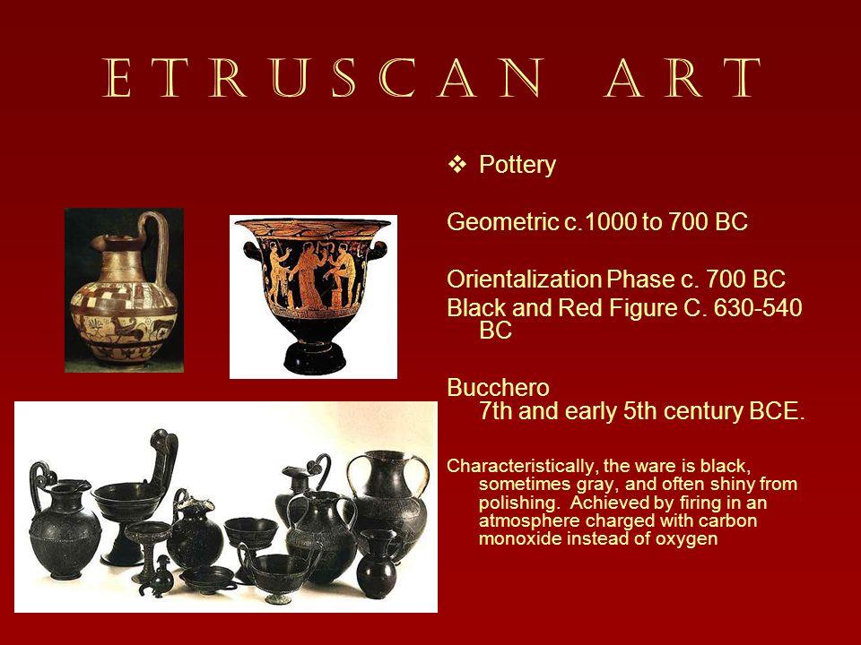 E T R U S C A N A R T Pottery Geometric c.1000 to 700 BC