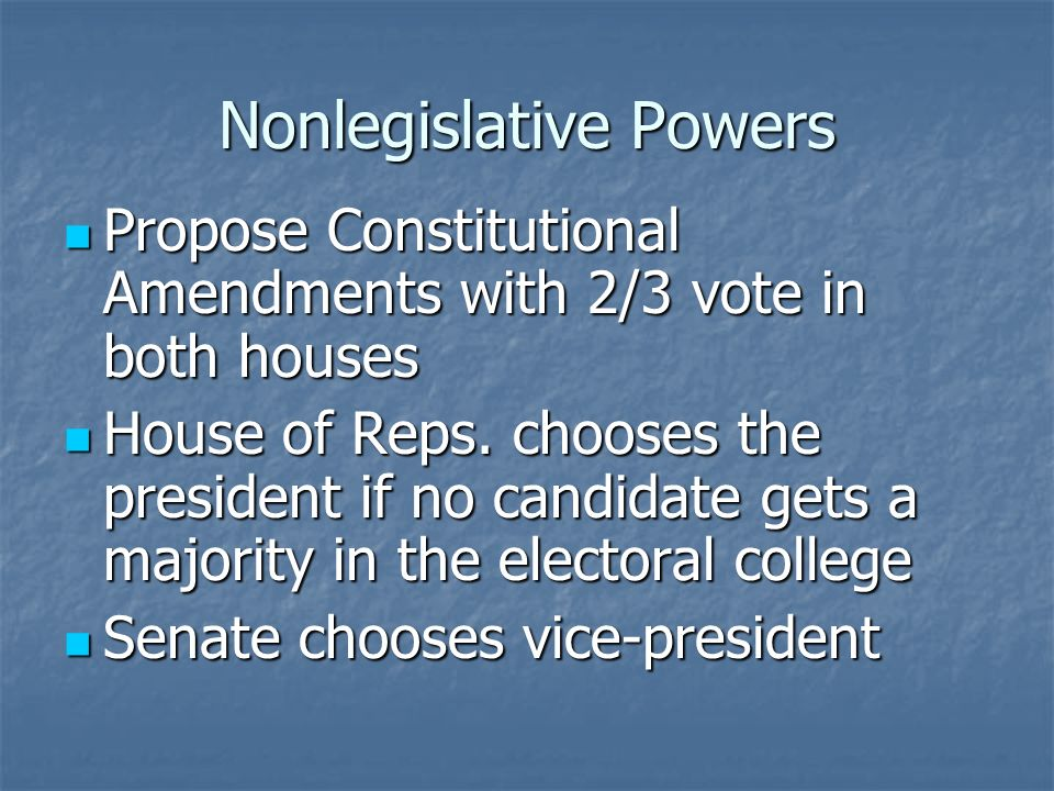 Nonlegislative Powers