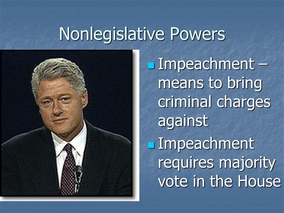 Nonlegislative Powers