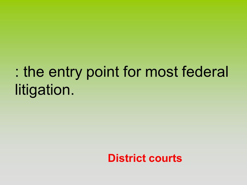 : the entry point for most federal litigation.
