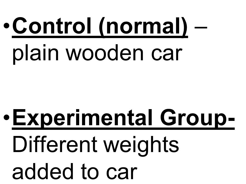 Control (normal) – plain wooden car