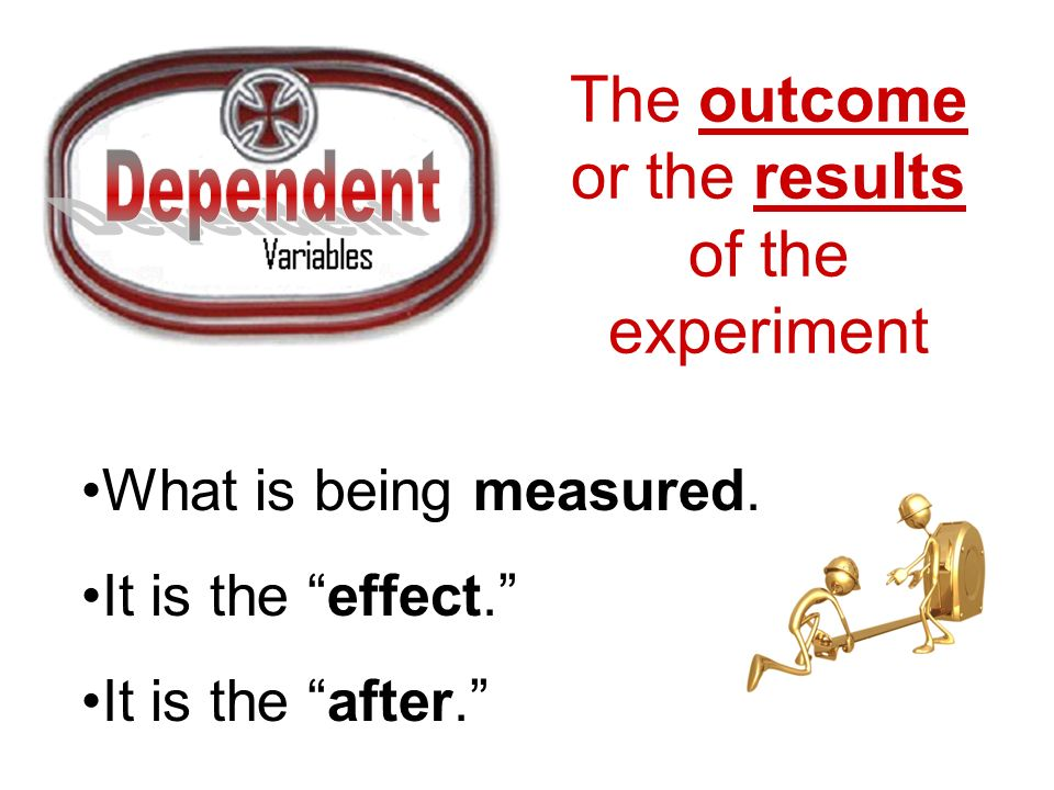 The outcome or the results of the experiment