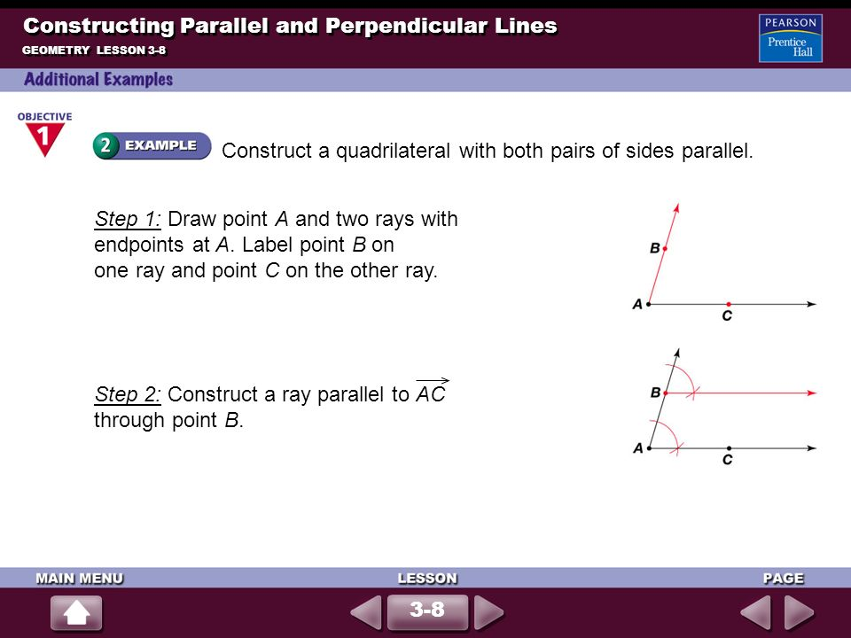 Constructing Parallel and Perpendicular Lines