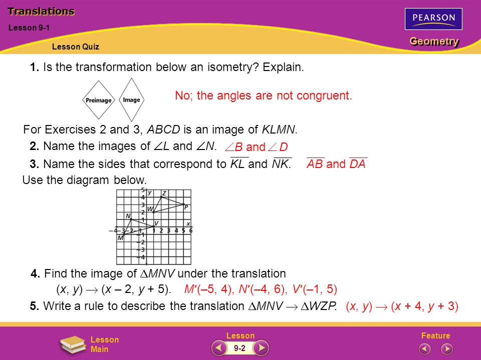 1. Is the transformation below an isometry Explain.