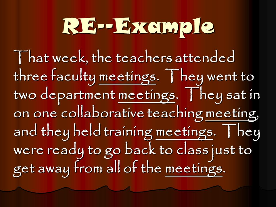 RE--Example