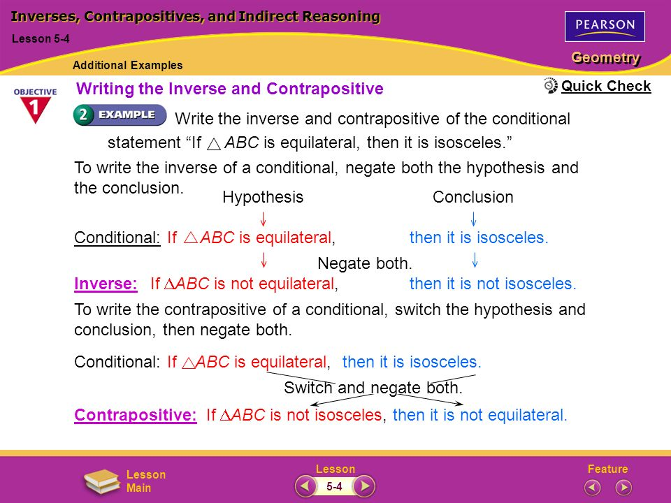 Inverses, Contrapositives, and Indirect Reasoning