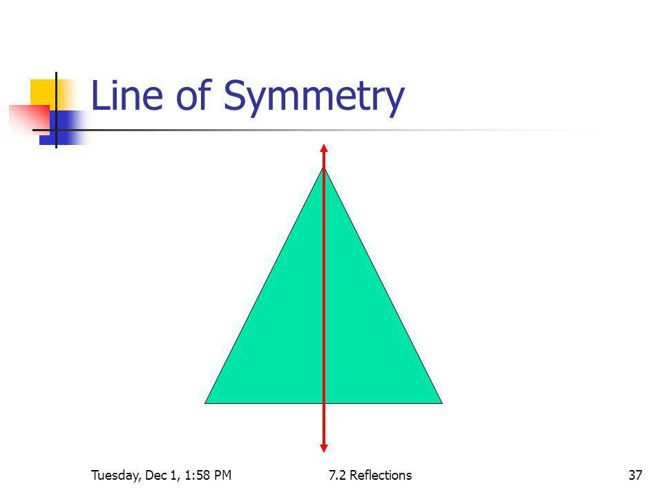 Line of Symmetry Tuesday, Dec 1, 1:58 PM 7.2 Reflections