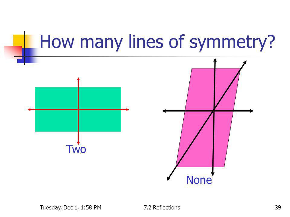 How many lines of symmetry