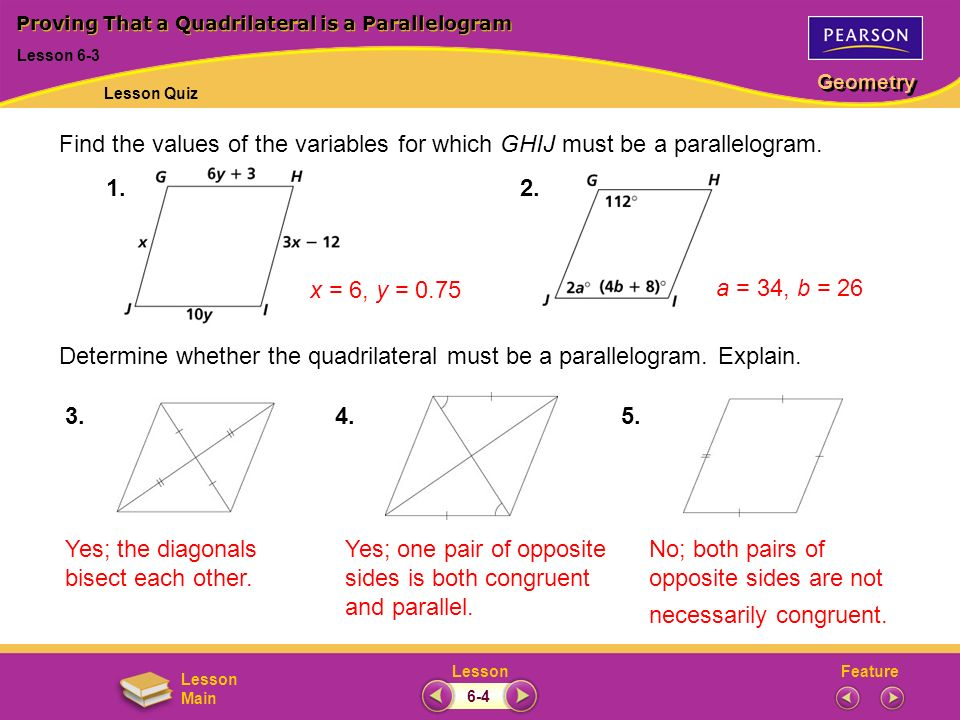 Proving That A Quadrilateral Is A Parallelogram Worksheet Beansmith
