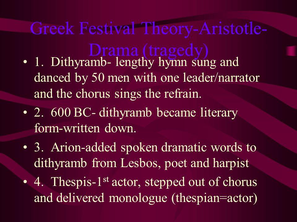 Greek Festival Theory-Aristotle-Drama (tragedy)