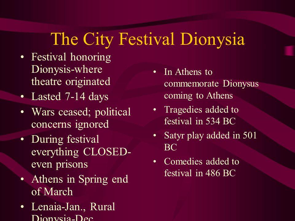 The City Festival Dionysia
