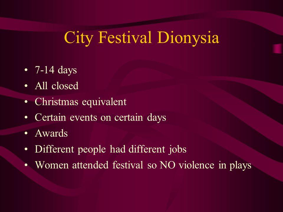 City Festival Dionysia