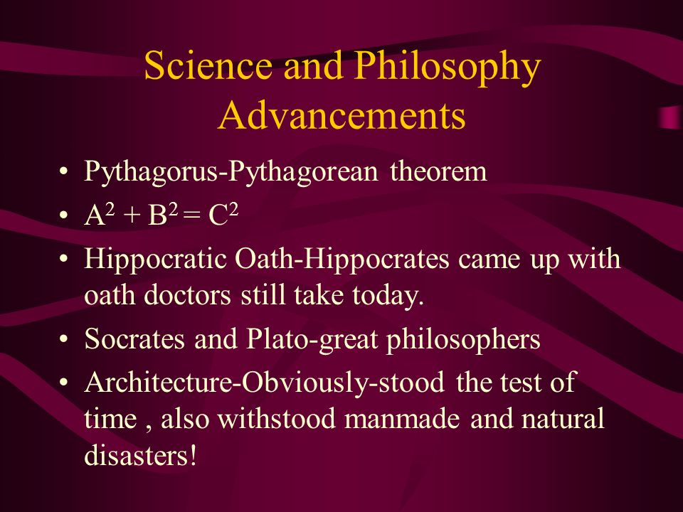 Science and Philosophy Advancements