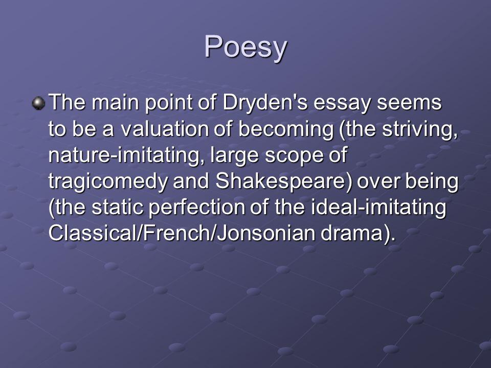 an essay on dramatic poesy by john dryden