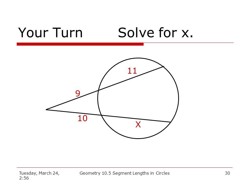 Geometry 10.5 Segment Lengths in Circles