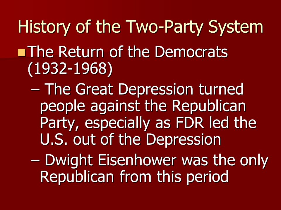 History of the Two-Party System