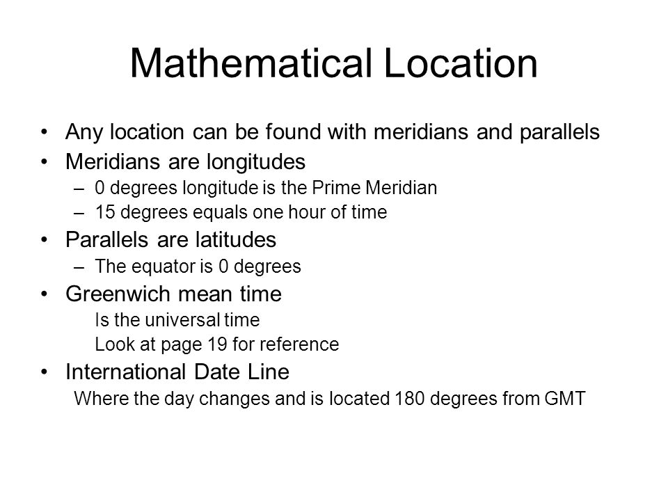 Mathematical Location