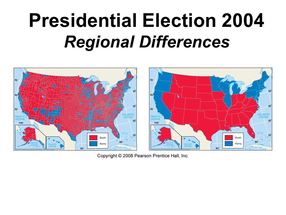 Presidential Election 2004 Regional Differences
