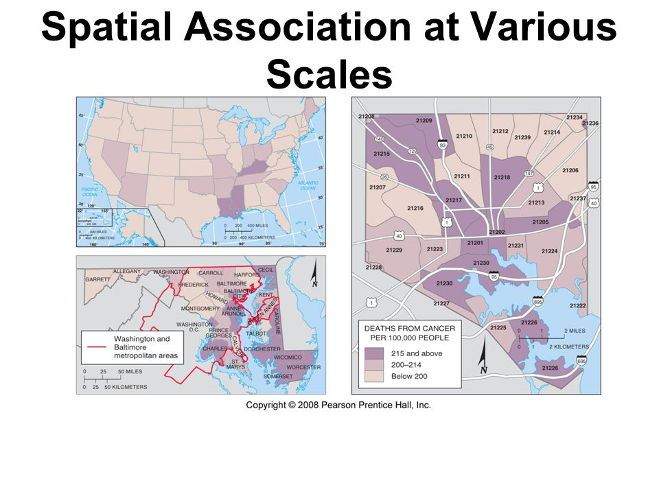Spatial Association at Various Scales