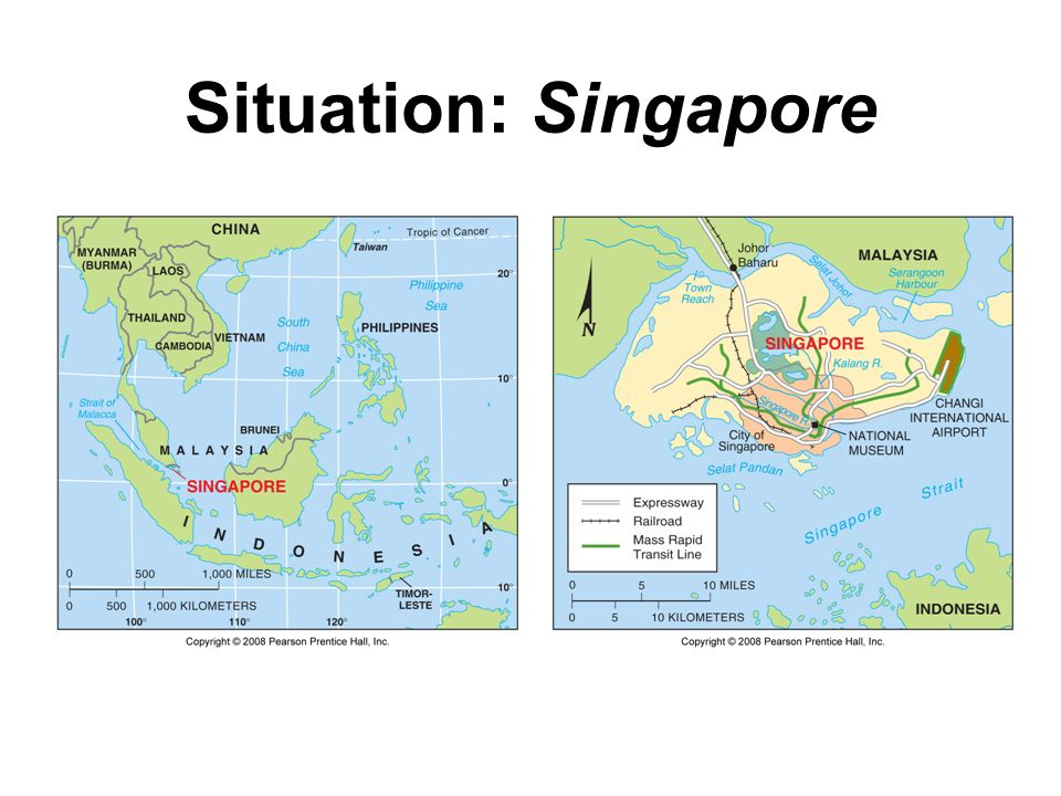 Situation: Singapore Fig. 1-7: Singapore is situated at a key location for international trade.