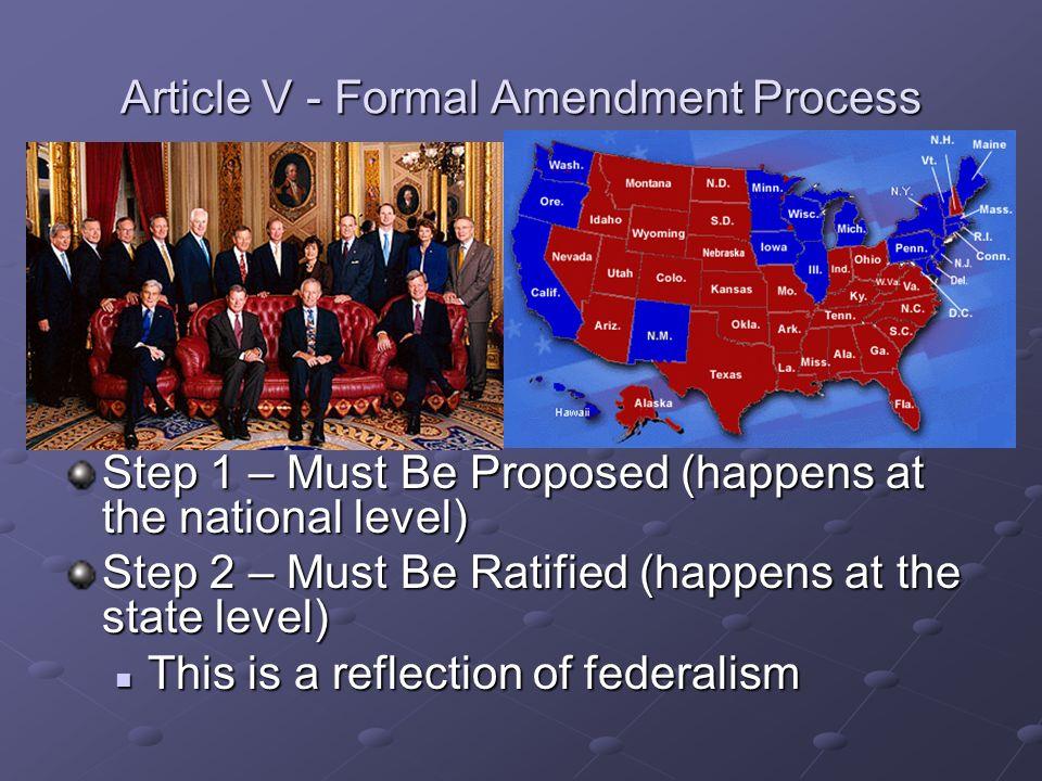 Article V - Formal Amendment Process
