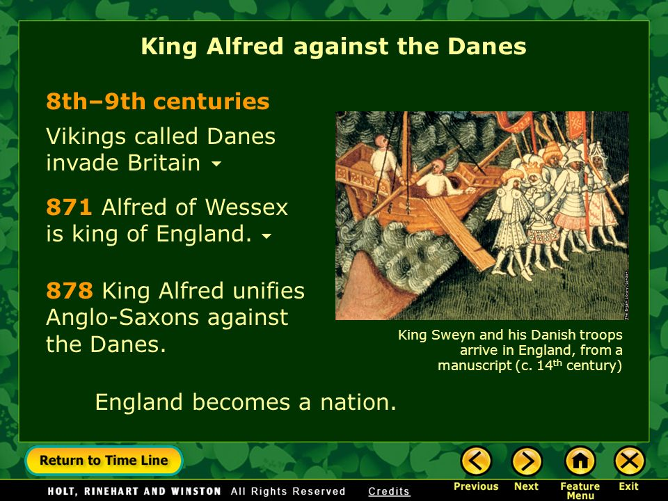 King Alfred against the Danes