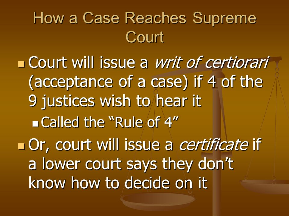 How a Case Reaches Supreme Court