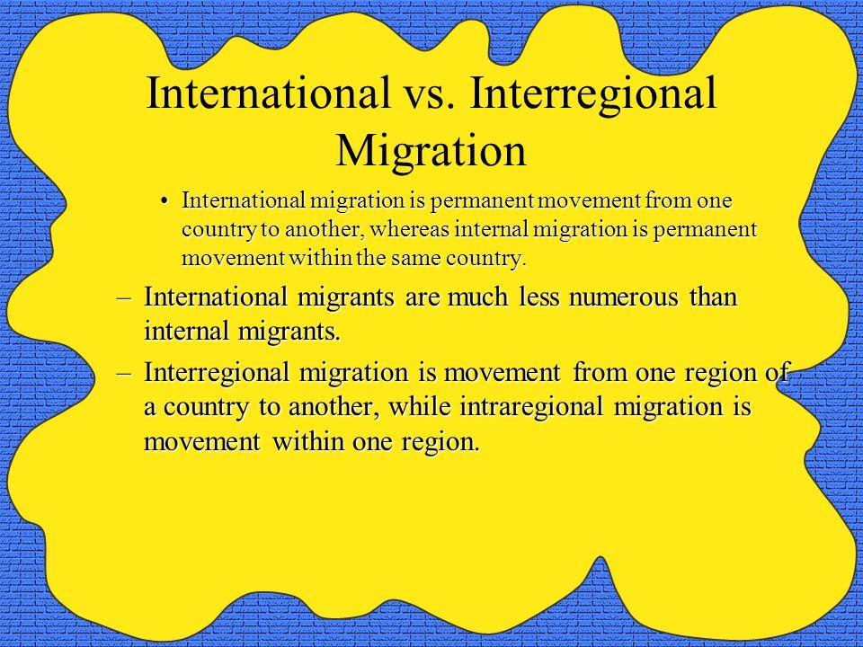 International vs. Interregional Migration