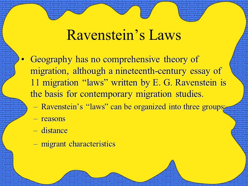 Ravenstein's Laws