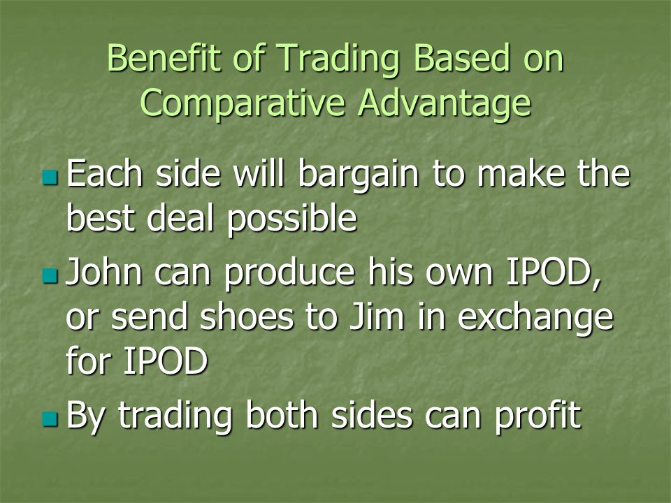 Benefit of Trading Based on Comparative Advantage