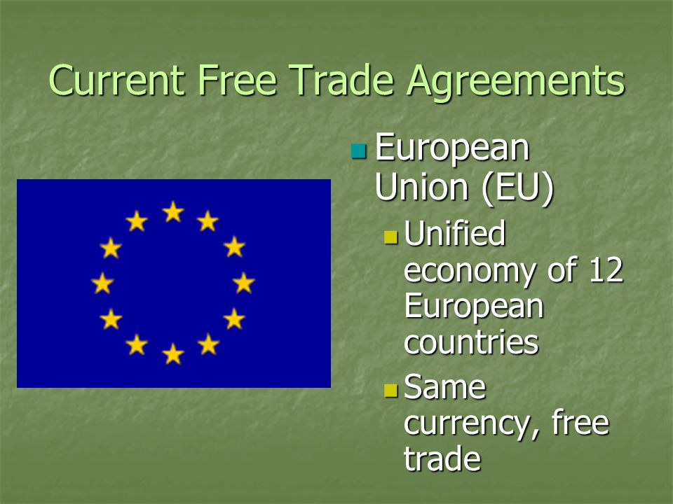 Current Free Trade Agreements