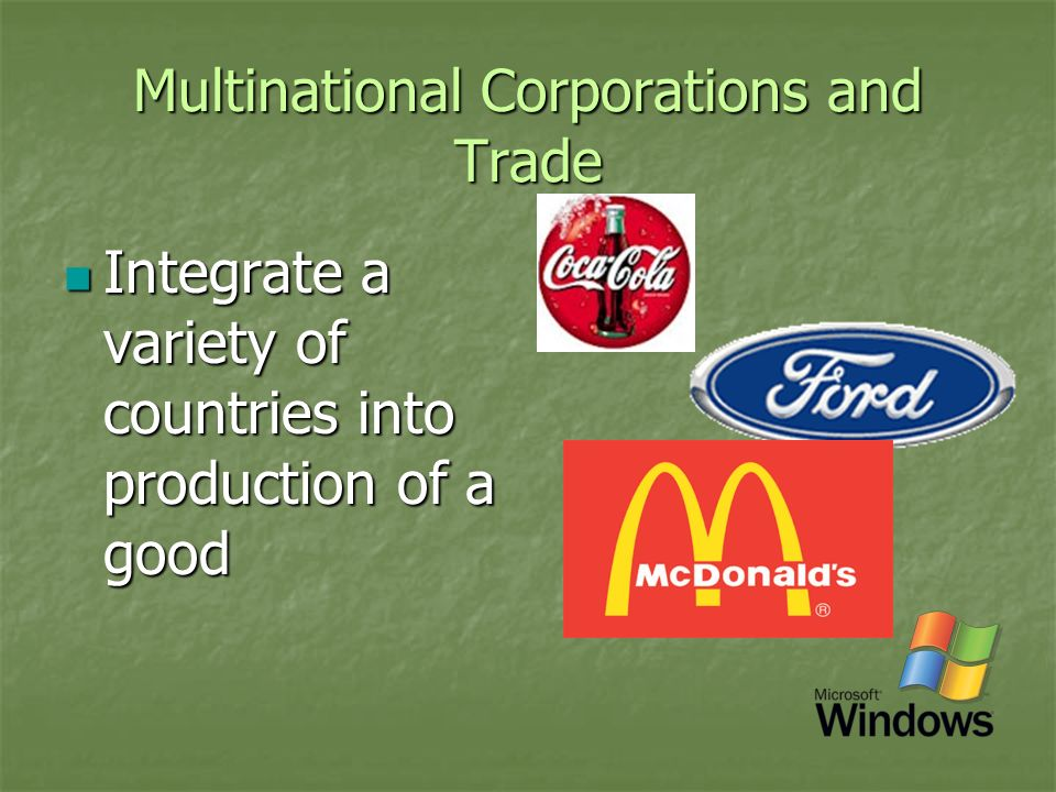 Multinational Corporations and Trade