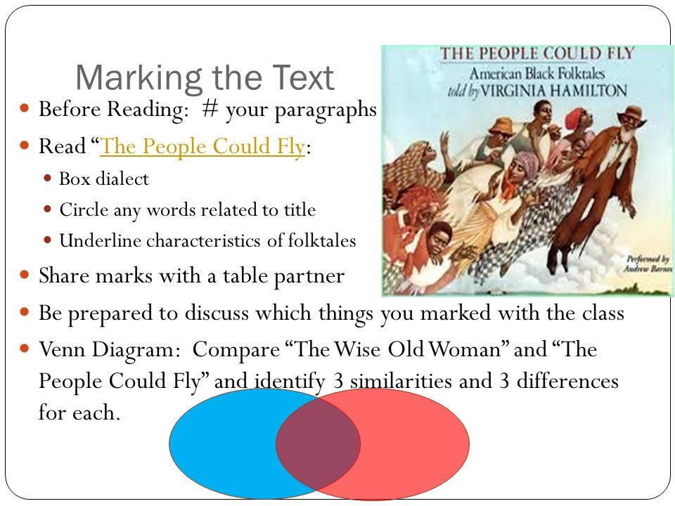 Marking the Text Before Reading: # your paragraphs