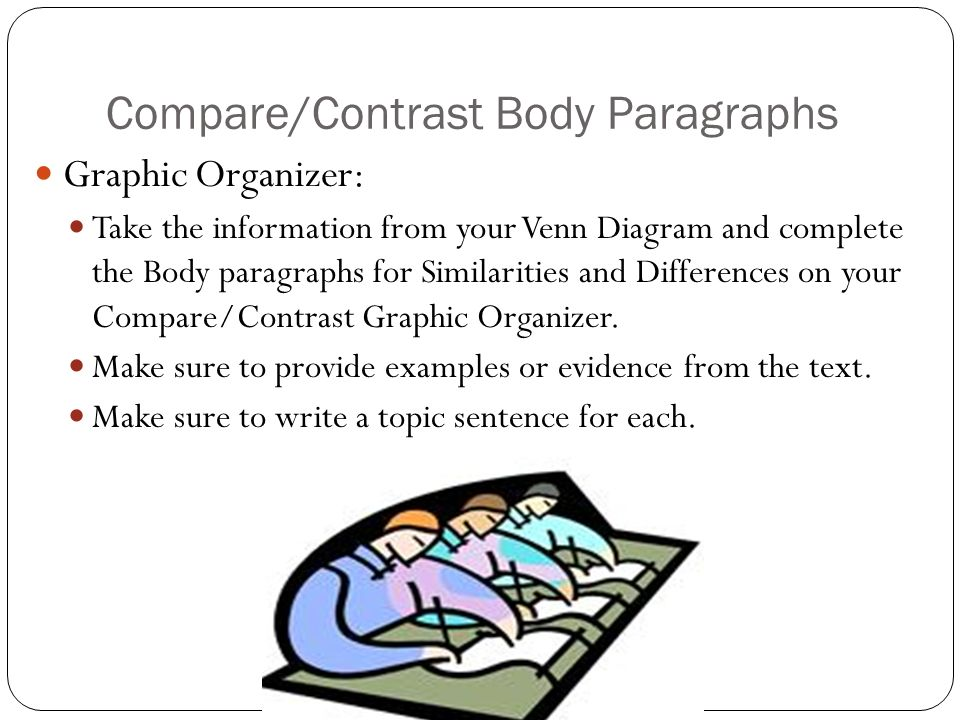 Compare/Contrast Body Paragraphs
