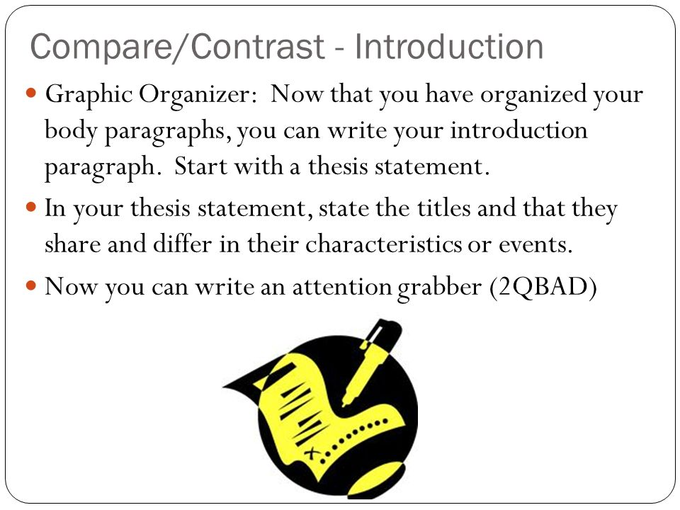 Compare/Contrast - Introduction