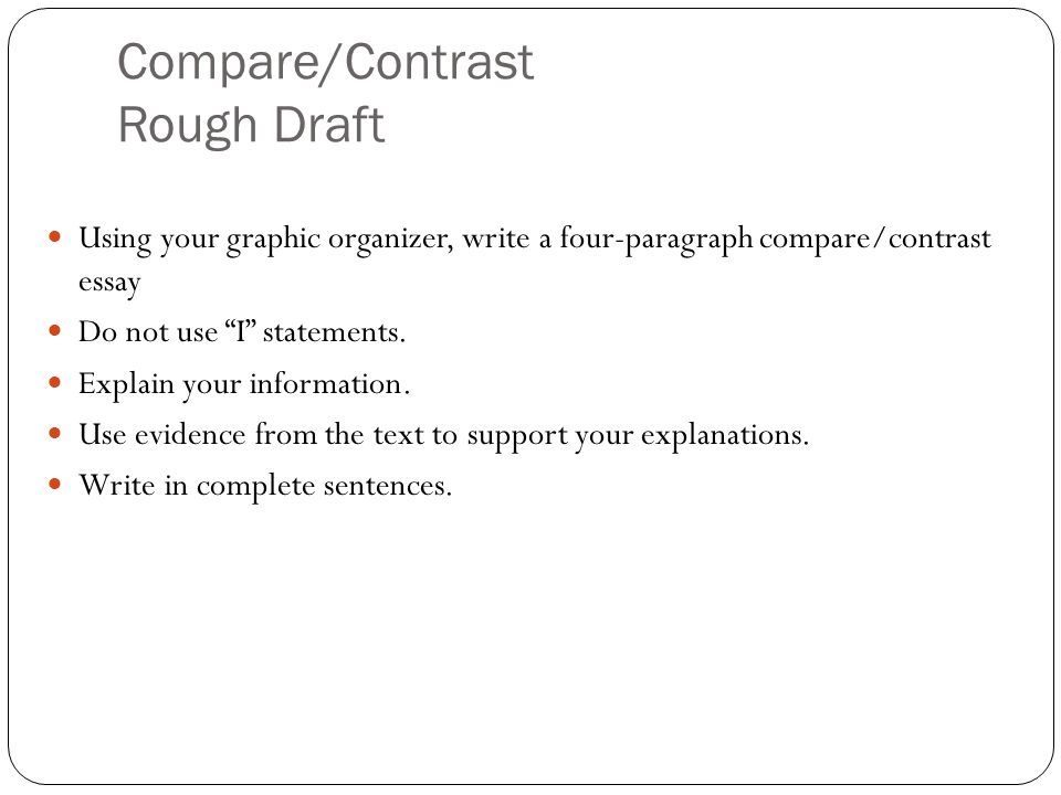 Compare/Contrast Rough Draft