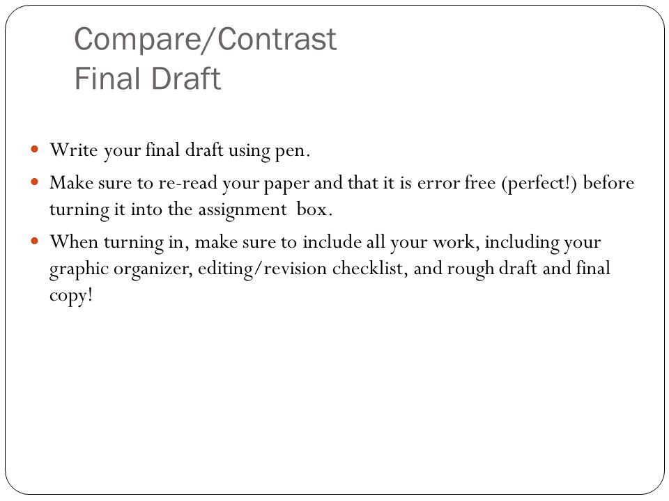 Compare/Contrast Final Draft