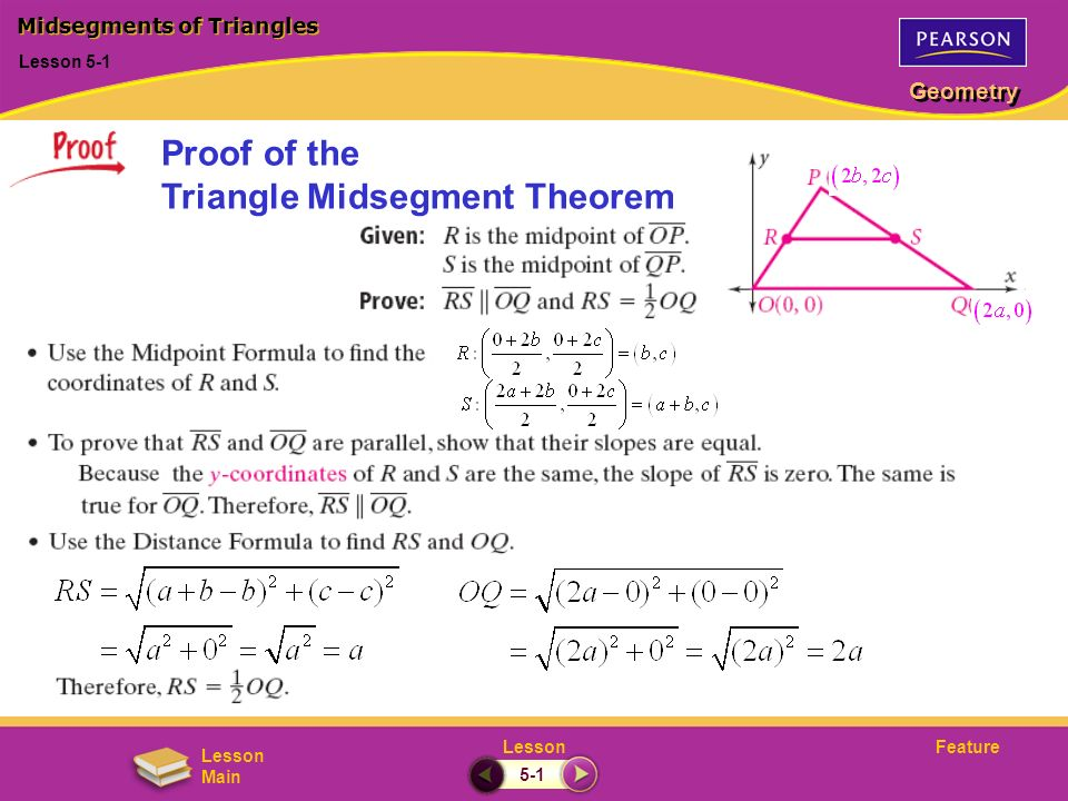 Proof of the Triangle Midsegment Theorem
