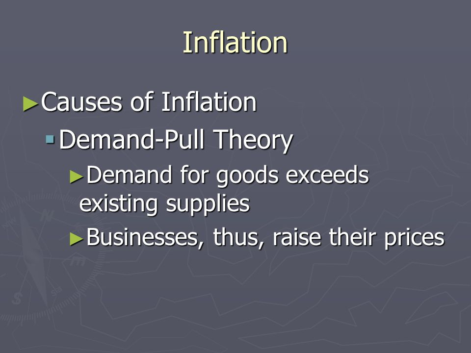 Inflation Causes of Inflation Demand-Pull Theory