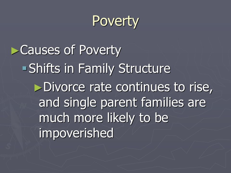 Poverty Causes of Poverty Shifts in Family Structure