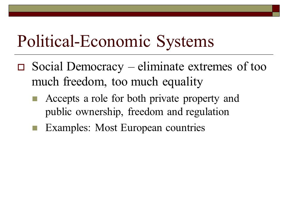 Political-Economic Systems