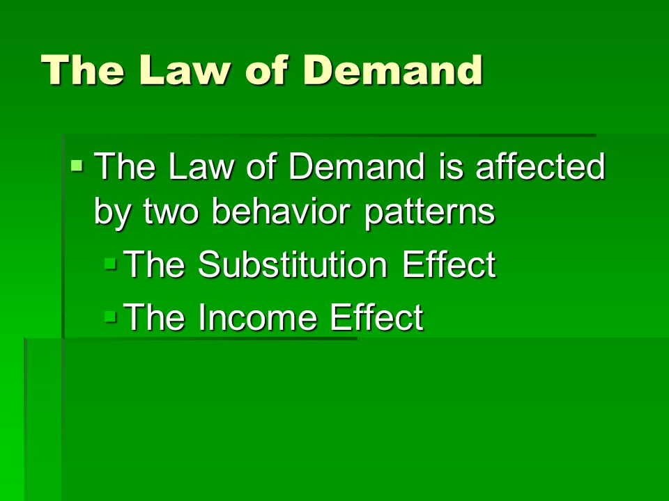 law of demand What are examples of supply and demand a:  the law of supply and demand in economics indicates that a surplus exists when supply of a given product exceeds demand.