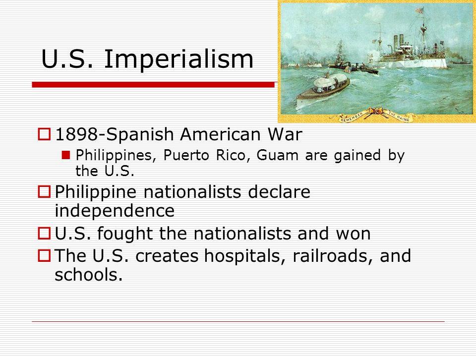 U.S. Imperialism 1898-Spanish American War