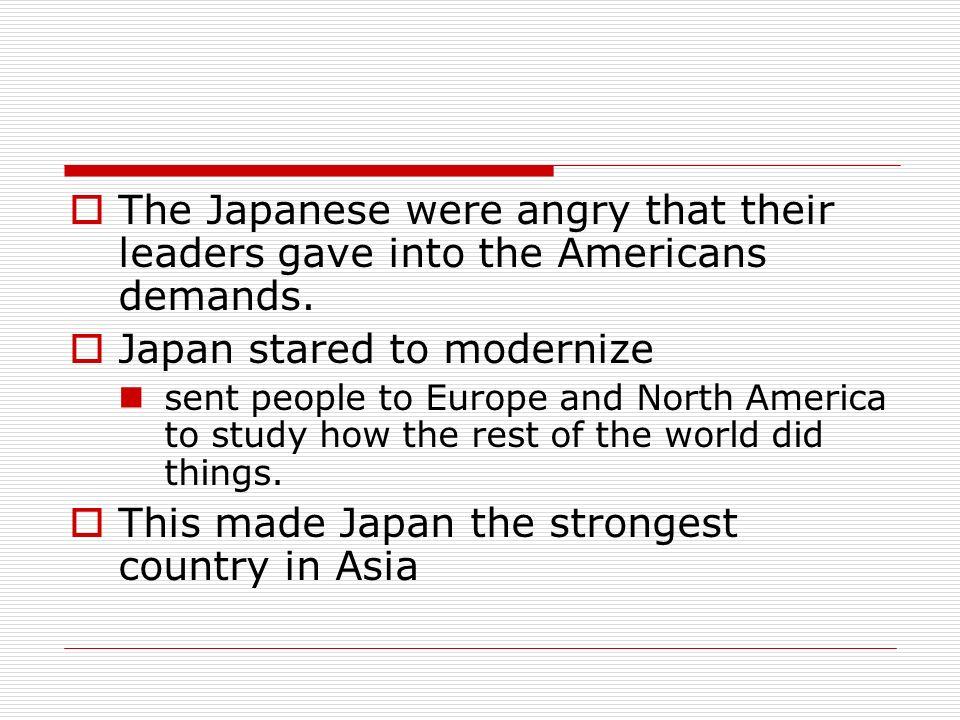 Japan stared to modernize