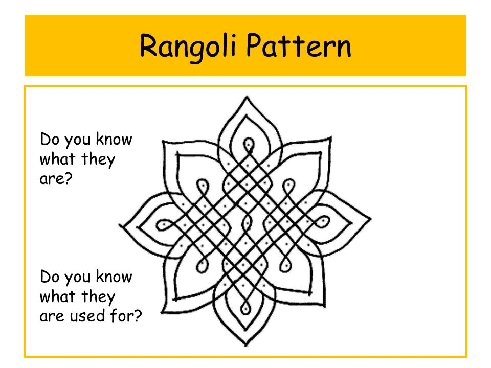 Rangoli Pattern Do you know what they are