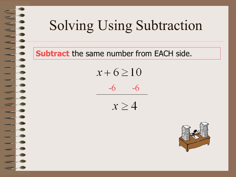 Solving Using Subtraction