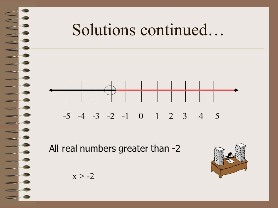 Solutions continued… -5 -4 -3 -2 -1 0 1 2 3 4 5