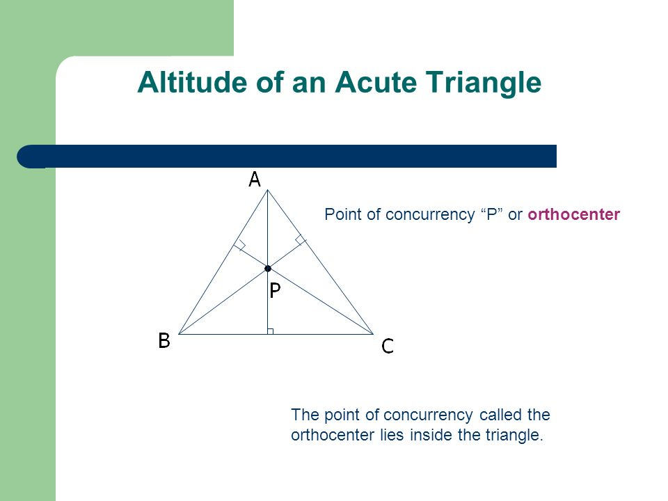 Altitude of an Acute Triangle